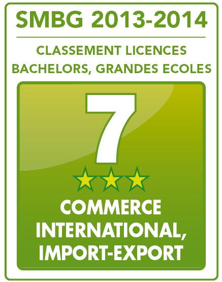 La Licence pro ADIO 7e au classement SMBG