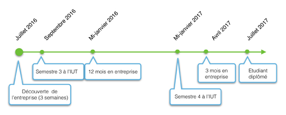 schéma des études DUT INFO Belfort